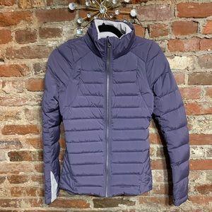 Beautiful lululemon athletica purple puffer coat